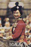 ******** Queen Elizabeth II riding side-saddle at her Silver Jubilee celebrations, 1977.