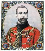 ******** Tsar Nicholas II of Russia, 1894. Artist: Henri Meyer Tsar Nicholas II of Russia, 1894. Nicholas came to the throne in 1894 after the death of his father, Alexander III. He was forced to abdicate during the Russian Revolution in 1917 and was executed along with the rest of the Imperial Family at Ekaterinburg