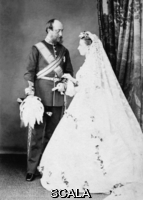 ******** Princess Helena's wedding day. Princess Helena (1846-1923), third daughter and fifth child of Queen Victoria and Prince Albert pictured on her wedding day.  She married Prince Christian of Schleswig-Holstein, a man fifteen years older than herself.  Despite the age difference, the marriage was happy and lasting.. The Illustrated London News. 5th July 1866. .