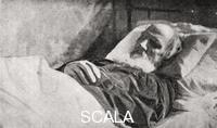 ******** Lev Tolstoy on his deathbed. Astapovo,  November 1910
