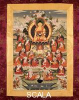 Tibetan art Buddha and chosen