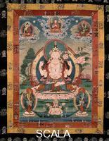 Tibetan art Incarnation of the Bodhisattva in the Dalai Lama