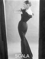 French, John (1907-1966) Model in a Black Evening Dress. London, England, 1960
