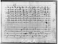 ******** Ouverture of the opera 'Alfonso and Estrella', page 18 (autograph by Franz Schubert, 1821-22)