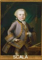 Lorenzoni, Pietro Antonio (1721-1782) Portrait of Mozart as a child, c. 1763