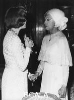 ******** Josephine Baker, French singer and dancer, with Princess Grace of Monaco, c1965-1975.