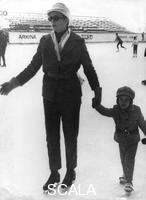 ******** Princess Grace and her daughter Stephanie on a family holiday in Switzerland, 1968.