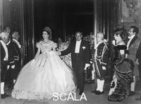 ******** Prince Rainier and Princess Grace arriving at the Monaco Centenary Ball, 1966.