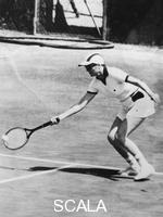 ******** Princess Grace of Monaco partnering her husband in the doubles tournament, Monte Carlo, 1976.
