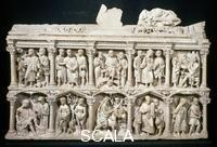 Roman art Sarcophagus of Junius Bassus with scenes from the Old and New Testament, 4th century AD