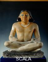 Egyptian art Seated scribe from Saqqara. 5th Dynasty