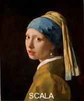 Vermeer, Jan (1632-1675) Head of a Young Girl (Girl with a pearls earring)