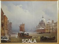 Caffi, Ippolito (1809-1866) The Grand Canal and La Salute after a Snowfall