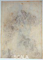 Michelangelo (Buonarroti, Michelangelo 1475-1564) Study for the Last Judgment no. 65 Fr, 1534