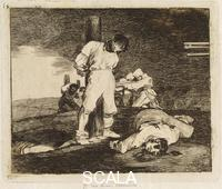 Goya, Francisco de (1746-1828) The 'Desastres de la guerra' (Disasters of War) series, 1810-20 - Plate 15: Y no hay remedio (And There's No Remedy).