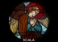 Bodley, George Frederick (1827-1907), attr. Stained glass roundel with an Angel, c. 1885
