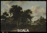 Hobbema, Meindert (1638-1709) Entrance to a Village, ca. 1665.