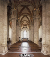 ******** Interior facing the high altar showing nave aisles towards the apse