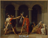 David, Jacques Louis (1748-1825) The Oath of the Horatii. 1784