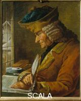 ******** Portrait of Voltaire writing