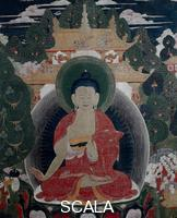 Tibetan art Buddha and scenes from his life - detail, 19th cent.