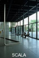 Mies van der Rohe, Ludwig (1886-1969) Neue Nationalgalerie (New National Gallery). Interiors. 1965-1968