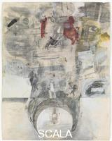 Rauschenberg, Robert (1925-2008) Canto XXXIV: Circle Nine, Cocytus, Compound Fraud: Round 4, Judecca, Treacherous to their Masters, from the series 'Thirty-Four Illustrations for Dante's Inferno, (1959-60)