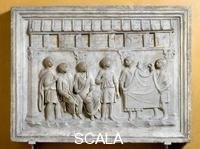 Roman art Relief with cloth vendor