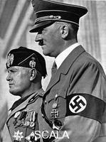 ******** Adolph Hitler (1889-1945) and Benito Mussolini (1883-1945).