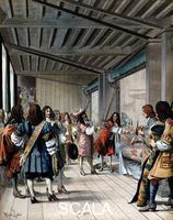 ******** Louis XIV of France visiting the Gobelins tapestry works, 17th cent. (late 19th cent.)