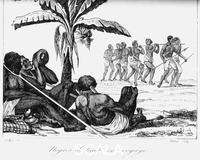 ******** A slave convoy, Africa, 19th cent.