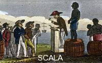 ******** Auctioning slaves in the West Indies, 1824 (From 'Scenes in Africa' by the Rev. Isaac Taylor, London, 1824)