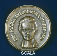 ******** Medal commemorating Marie Sklodowska Curie, Polish-born French physicist, 1967.