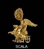 ******** Earring with Nike driving a two-horse chariot. Greek, Late Classical or Early Hellenistic Period, c. 350–325 B.C.