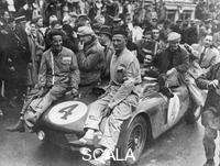 ******** The victorious Ferrari of Froilan Gonzalez and Maurice Trintignant, Le Mans 24 hours, France, 1954.