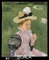 Cassatt, Mary (1844-1926) Portrait of a Young Girl, 1899